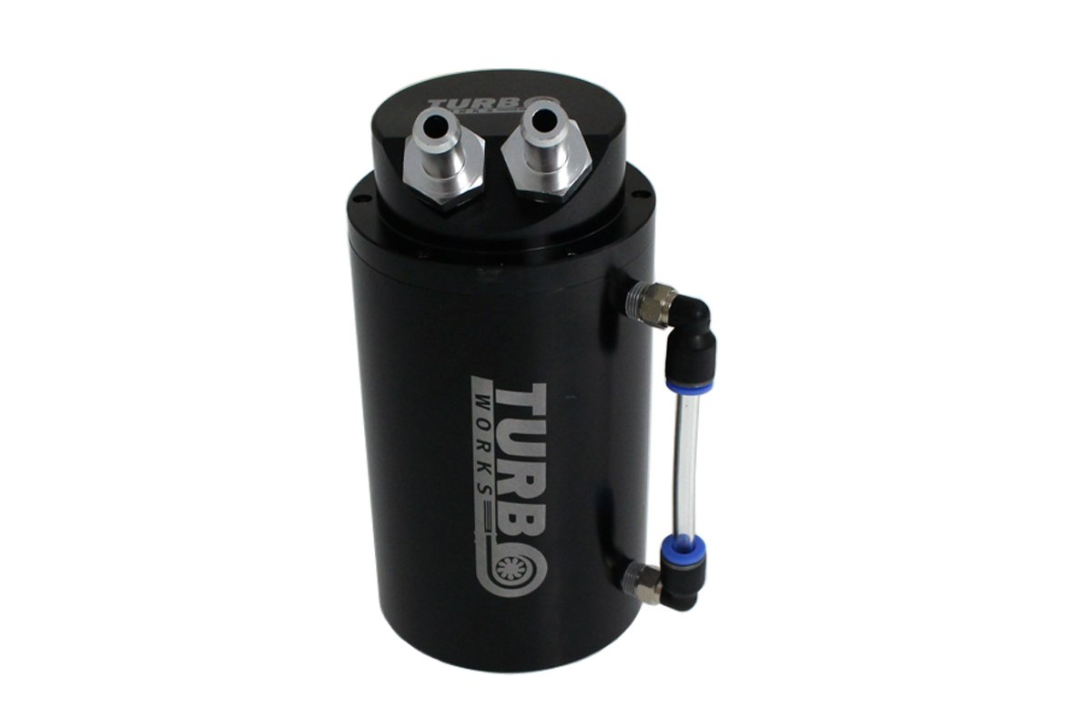 Oil catch tank 0.7L 10mm TurboWorks Black - GRUBYGARAGE - Sklep Tuningowy